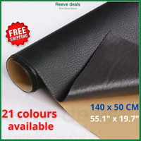 Self Adhesive 140x50cm Leather Patch Sticker Sofa Car Rubber Quality Fabric NEW