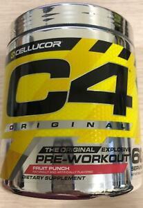 Cellucor C4 Original Pre Workout Powder Fruit Punch 60 Servings 02/2022 (K2)