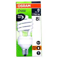 8 Osram Duluxstar 28W 120W E27 Lampada fluorescente compatta 814944 O