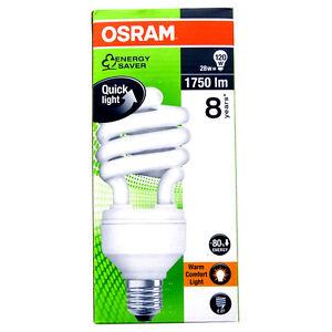 2 Osram Duluxstar 28W 120W E27 Leuchtstofflampe Kompaktleuchtstofflampe 814944 O
