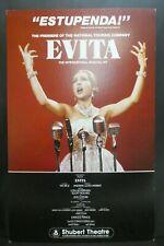 "Evita Theater Broadway Window Card Poster 14"" x 22"""