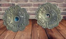 Ancien Ornement Architecture Bronze Fleur Rosace Rinceaux Chandelier Vintage