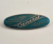 Vintage 1930's GENERAL PITTSBURGH STORE FIXTURE NOS EMBLEM Fox Co Cincinnati