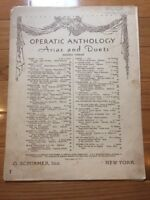 Vintage Sheet Music For Operatic Anthology, Arias And Duets, Series Three