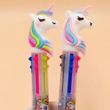 2018 6 In 1 Cartoon Unicorn Ballpoint Pen School Office Gift Ball Pen Stationery