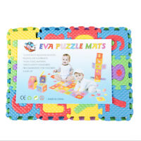 36pcs Soft Eva Foam Baby Play Floor Mat Alphabet Numbers Kid DIY Puzzle Jigsaw R