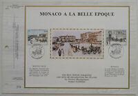 Monaco Feuillet CEF n°165S 1982 - Monaco à la Belle Epoque - Tirage 3000
