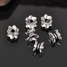100pcs 7mm Tibetan Silver Loose Spacer Metal Bead Bracelet Finding Charms