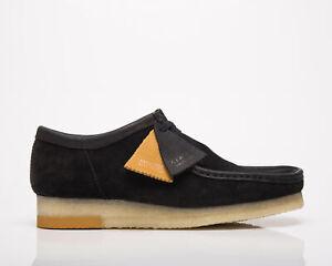 Clarks Originals Wallabee Men's Black Combi Low Casual Lifestyle Shoes Boots