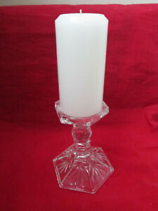 """Godinger Shannon 24% Lead Crystal 5 1/2"""" Candle Holder Made in USA W Candle"""