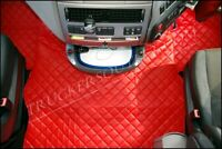 DAF XF EURO6 FLOOR SET LEATHERETTE RED [TRUCK PARTS & ACCESSORIES]
