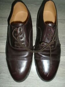 ARMY MENS BROWN LEATHER OFFICERS SHOES SIZE 11L WIDE WIDTH FITTING BRITISH ARMY