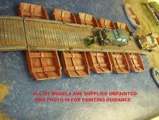 28mm wargames. Wooden Boat Pontoon Bridge 1:56 scale.5 boats 4 road decks (898)