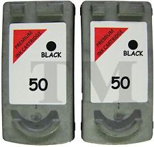 PG-50 Twin Pack Black Ink Cartridges fits Canon Pixma Fax iP2600 Printers