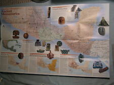 ANCIENT MESOAMERICA MAP National Geographic December 1997 THE MESOAMERICANS
