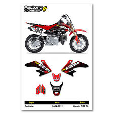 2004-2012 HONDA CRF 50 Solitaire Motocross Graphics Dirt Bike Decal Sticker Kit