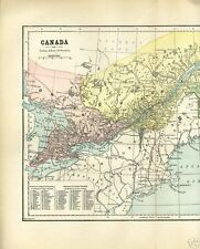 CANADA~EASTERN SECTION~QB,ON,NB,NS,NF~1888~antique map