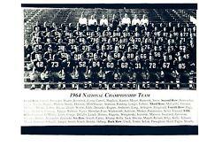 1964 NOTRE DAME  FOOTBALL 8X10 TEAM PHOTO NCAA  IRISH INDIANA