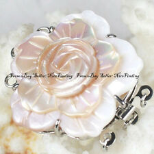 3 Strings Natural Shell Cameo Jewelry Clasp