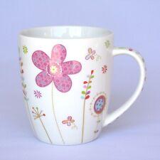 Becher mit Blumen pink - Tasse - Becher mit Henkel - Kaffeebecher - NEU