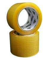 """3"""" x 110 Yards (330') Yellow Transparent Hybrid Packaging Tape 1.75 Mil 48 Rolls"""