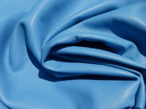 lambskin lamb leather hide Sky Blue light weight  drapey soft 1 1/2 oz