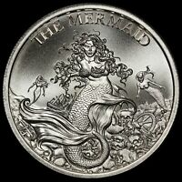 NEW 2020 Intaglio Mint Cryptozoology Series Mermaid 1 oz .999 Silver Round
