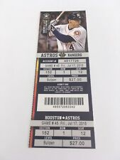 McHugh Win Gregerson Save July 17 2015 7/17/15 Astros Rangers Full Ticket