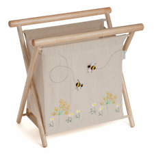 KNITTING BAG APPLIQUE BEE Wooden Frame Traditional Style SUPER QUALITY