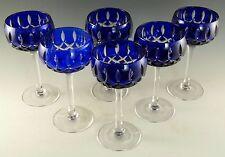 John WALSH Walsh Crystal - Blue Coloured Cocktail Glasses - Set of 6