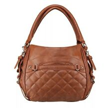 VISM  BWD003 QUILTED HOBO CCW PURSE BAG/BROWN