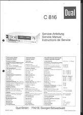 Dual Service Manual für C 816  Copy