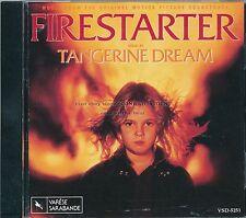 """Tangerine Dream """"FIRESTARTER"""" soundtrack CD OOP VSD-5251"""