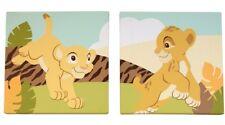 NEW DISNEY BABY THE LION KING SIMBA 2-PIECE WALL DECOR.