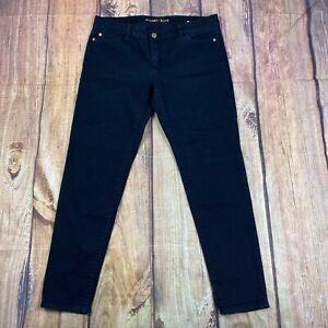 Michael Kors Izzy Cropped Skinny Jeans Women Size 10 Denim Jeans Black
