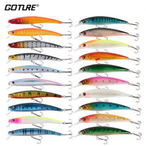 20pcs/Lot High Quality Fishing Lure Kit Mixed Wobblers Minnow Sea Bass Killer