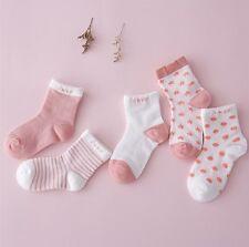 5 Pairs Baby Boy Girl Cartoon Cotton Socks NewBorn Infant Toddler Kids Soft Sock