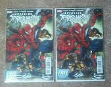 THE AVENGING SPIDER-MAN #1 NM+ (Marvel,2012) poly-bagged direct x2 WOLVERINE