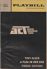 1969 Playbill ACT Tiny Alice A Flea in Her Ear Three Sisters Michael Learned