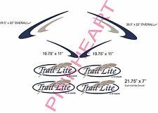 Trail Lite feather Decal Rv Sticker KIT PREMIUM Decals camper trailer stickers