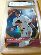 CHRISTIAN ARROYO GIANTS 2016 BOWMAN CHROME ARIZONA FALL LEAGUE # CA GRADED 10