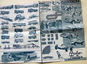 Fleischmann Prospekt von 1968 - Eisenbahn u. Auto-Rallye Rennbahn