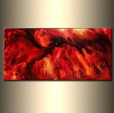 Large Original Abstract painting Red Black Contemporary modern Fine Art by H P