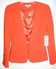NWT JENNIFER LOPEZ Light Corsica Red Blazer Dress Suit Top Jacket-Sz XS-Rtl $80