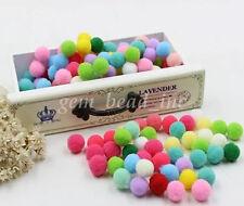 New Plush Multicolor Fur Pompom Ball DIY Home Decor Craft Applique 10/15/20/25mm