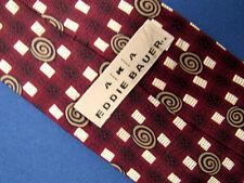 Men's AKA Eddie Bauer Red Silk Tie A23698