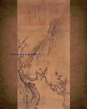 Korean Art, Flower and Bird 화조도(花鳥圖) Kim Hong-do (김홍도金弘道) Cotton Art Paper k13