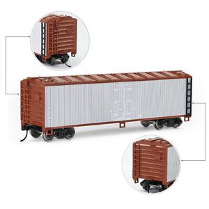 1pc HO Scale 1:87 40' Wood side Reefer 40ft Boxcar Model Railway Wagon C8747