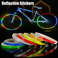 Reflective Sticker Motorcycle Bicycle Reflector Security Wheel Rim Decal Tape RD