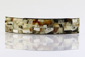 Unique Color Hair Barrette Genuine BALTIC AMBER Mosaic b150211-17